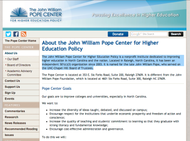Pope Center for Higher Education